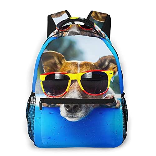 Jupsero Mochila para hombres, mujeres, perros con gafas de sol, mochilas informales, mochilas, bandolera de viaje
