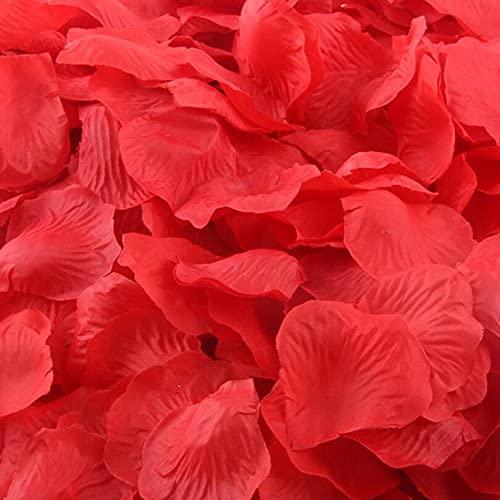CHSYOO 1000 x Rose Artificiali Foglie Rose Fiori Confetti, Decorazione Romantica Accessori per Matrimonio Compleanno Festa Festa San Valentino Fidanzata Appuntamento Proposta Matrimonio, Rosso