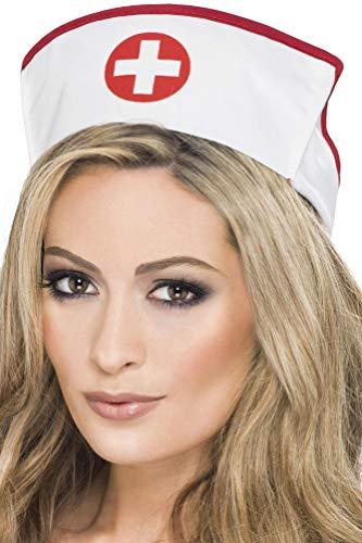 Smiffys Chapeau d'infirmière, Best Quality, blanc, tissu élastique