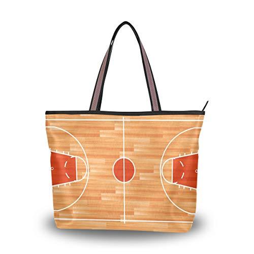 Eslifey Damen Handtasche/Schultertasche aus Holz für Parkett Boden Basketball Court Gr. 38, multi