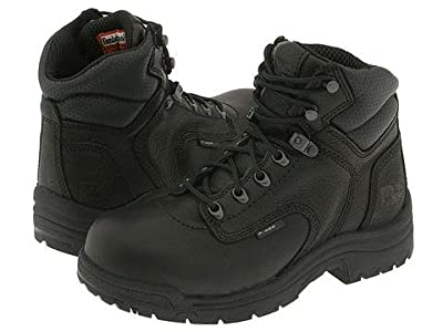 Timberland PRO TITAN(r) Alloy Safety Toe (Black Full-Grain Leather) Women