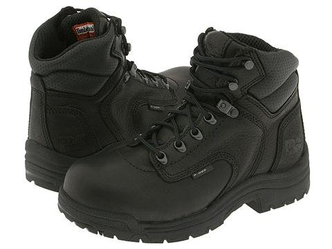 Timberland PRO  TITAN Alloy Safety Toe (Black Full-Grain Leather) Womens Work Lace-up Boots