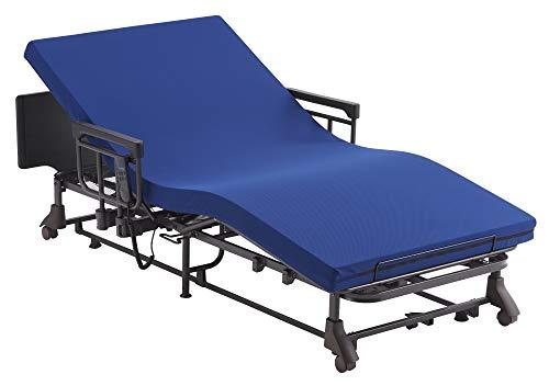 アテックス ベッド 電動 リクライニング 収納式 2モーター マットレス分離タイプ AX-BE580 ブルー