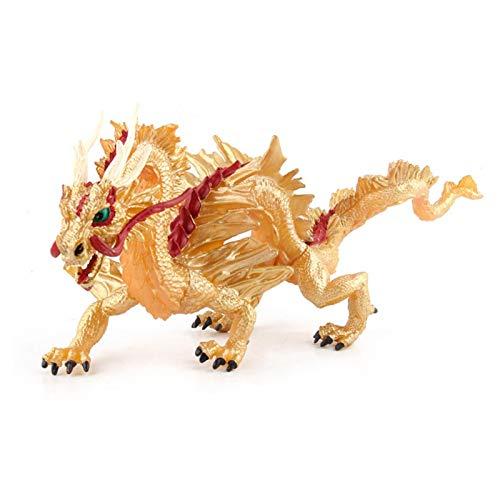 N/G Juguete de dragón Chino Estatua de dragón Realista Modelo de Animal de simulación Tradicional Oriental Juguete Creativo Adecuado para decoración del hogar o niños Jugando (Azul/Dorado/Rojo)