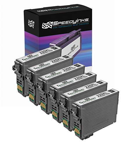 Speedy Inks Remanufactured Ink Cartridge Replacement for Epson 220XL High Capacity (Black, 6-Pack)