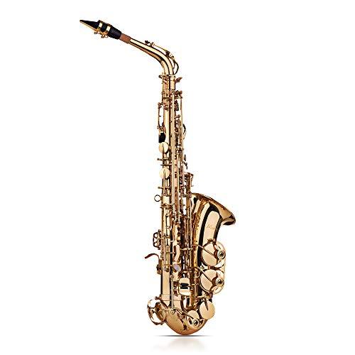 Kalaok Eb Alto Saxofón Saxofón Latón Oro Dorado 802 Tipo