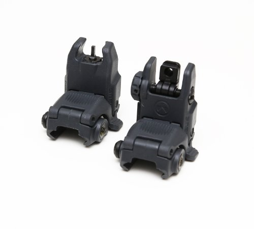 Magpul Industries MBUS Generation II Sight Set Front & Rear Color- Stealth Gray