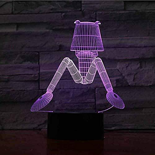 Led 3D Lichter Haushaltslampe Schreibtischzubehör Farbwechsel Projektion Veilleuse Enfant Acryl Indoor Craft Usb Nachtlicht