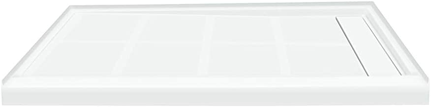 Transolid FL4836R-31 Linear 48-in x 36-in Rectangular Alcove Shower Base with Right Hand Drain, White