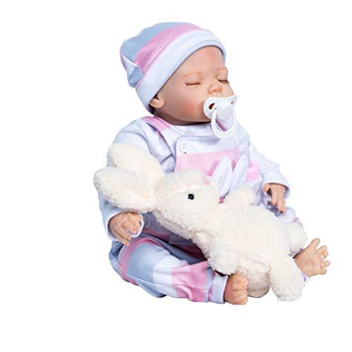 tytl Silikon Reborn Babypuppen Spielzeug Schöne Schöne Kleidung Für Babypuppen Geboren Mini Reborn Puppen Kit Fertige Puppe 44 cm