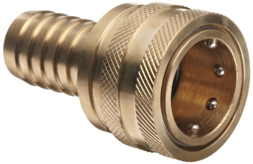 Dixon 8ES8-B Brass Quick-Connect Hydraulic Fitting, Coupler, 1