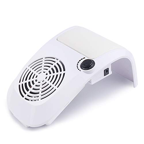 YJF Nail Dust Collector Manucure Machine Two Fans, 40w High Power Professional Vacuum Cleaner DIY Fingernail Art Design Tools,Blanc