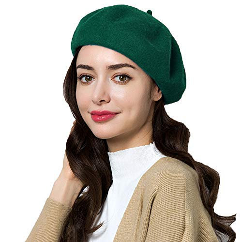 7c32764eb271a Exlura 95% Wool Beret Artist Hat French Hat Casual Solid Color Spring  Winter Hat for