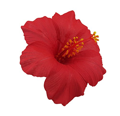 Bonitagirl Hawaiian Hibiscus Flower Hair Clip (Red)