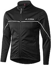 INBIKE Men's Cycling Jacket, Winter Fleece Thermal Windproof Soft Shell Wind Coat (L, TJJ)