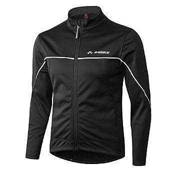 INBIKE Men's Cycling Jacket Winter Fleece Thermal Windproof Soft Shell Wind Coat  L TJJ