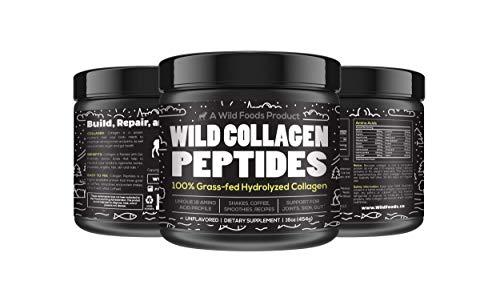 Wild Collagen Peptides Powder - Pasture Raised, Type 1 and 3, Grass Fed, Gluten Free, Single Ingredient, Unflavored, Non-GMO, Keto & Paleo Friendly (16 oz)