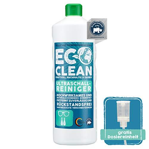 Eco Clean® Ultraschallreiniger Konzentrat 1L - hochwirksames und materialschonendes Konzentrat für Ultraschallreinigungsgeräte - Made in Germany