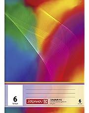 Brunnen 104590602 - Cuaderno escolar (A5, 16 hojas, en blanco, con líneas, línea 6)