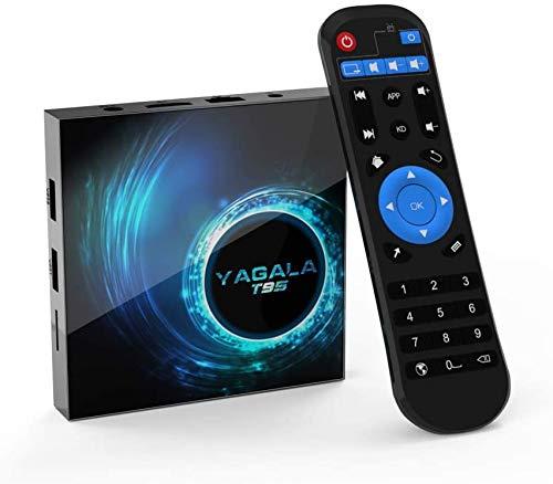 TV Box, YAGALA Android 10.0 Smart Box with 4GB RAM 32GB ROM Allwinner H616 Quad Core 64bit Arm Corter-A53 CPU Mali G31 MP2 GPU 6K Output 2.4GHz/5GHz WiFi 100M LAN Enternet Bluetooth 5.0