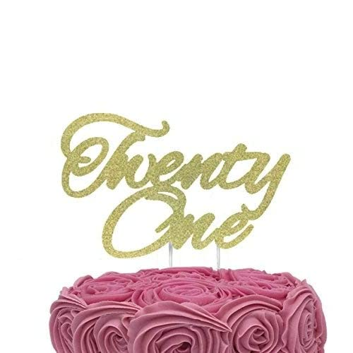 LissieLou Twenty One Cake Topper