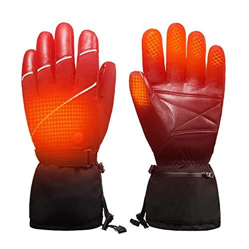 JFF Heated Gloves for Men Women,Electric Ski Motorcycle Snow Mitten Glove Arthritis Electric Ski Gloves Mountain Climbing Fishing,L
