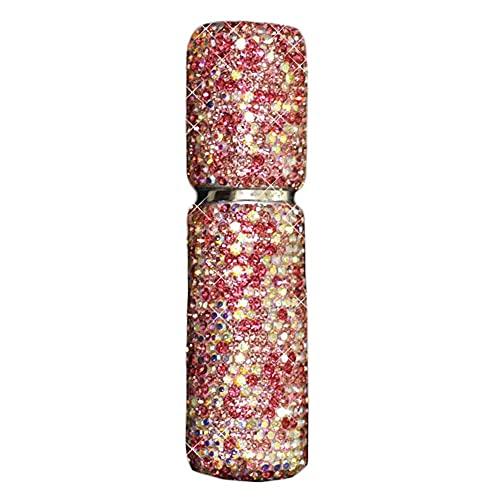 Botella dispensadora de Perfume de Diamantes de imitación de 10 ml Bling Bling pequeña Botella de Spray vacía Botella de tóner portátil de Viaje, Rosa