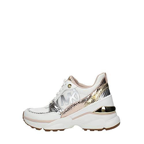 MICHAEL MICHAEL KORS MICKEY Sneakers dames Wit/Roze/Goud Lage sneakers