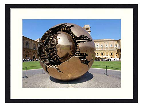 Wall Art Canvas Prints Wood Framed Paintings Artworks Pictures(20x14 inch) - Vatican Museum Sculpture Monument Architecture Art