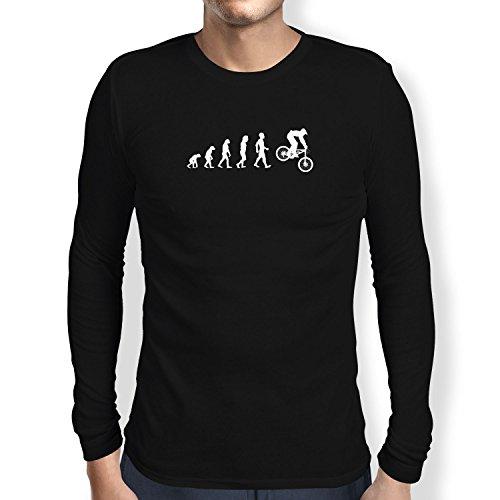 Texlab Downhill Evolution - Herren Langarm T-Shirt, Größe L, schwarz