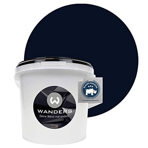 Wanders24® Tafelfarbe (3Liter, Schwarz) Blackboard Paint - Tafellack - abwischbare Wandfarbe - in 20 Farbtönen erhältlich - Made in Germany