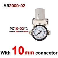 AR2000-2 AR3000-3空気圧調整器の圧力調整器圧力低減バルブ圧力ゲージ (Color : Grey)