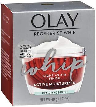 Face Moisturizer Cream by Olay Regenerist Whip Fragrance Free Oil Free facial lotion 1.7 Oz, 2...