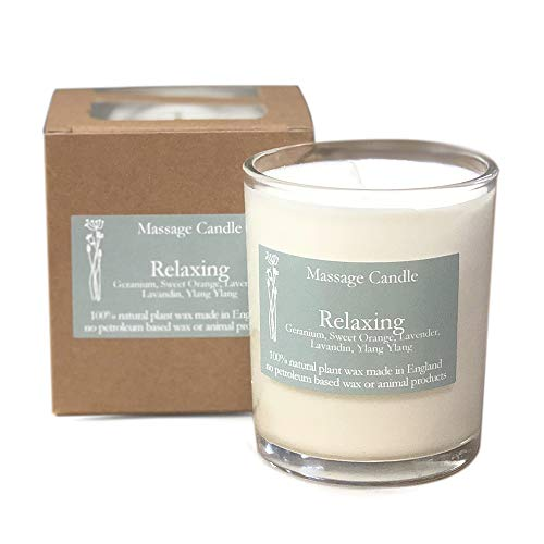 Heaven Scent MASSAGE Scented Candle in Glass - Relaxing
