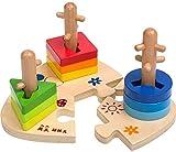 YZHM Madera Conjuntos Tres de columnas de la Puzzles de Bloques de construcción...