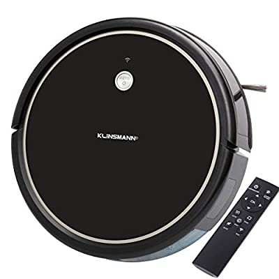 Klinsmann K185 Robot Vacuum and Mop, 1800Pa Strong Suction, Wi-Fi, App & Alexa Voice Control, Self-Charging Robotic Vacuum Cleaner, Ideal for Hard Floors to Medium-Pile Carpets