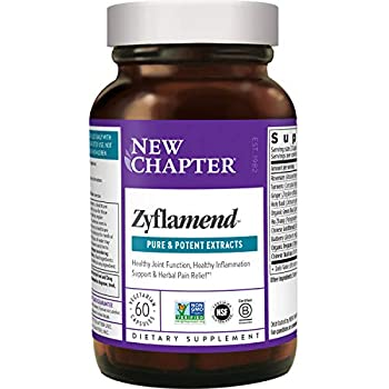 New Chapter Multi-Herbal + Joint Supplement Zyflamend Whole Body for Healthy Inflammation Response + Herbal Pain Relief - 60 Count