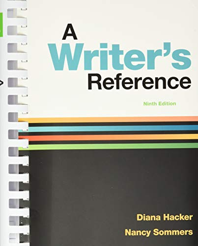 Compare Textbook Prices for A Writer's Reference Ninth Edition ISBN 9788925598567 by Hacker, Diana,Sommers, Nancy