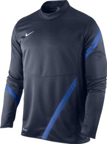 NIKE Langarmshirt Core Fleece Long Sleeve Crew - Sudadera de fútbol para Hombre, Color Negro/Blanco, Talla FR : M (Taille Fabricant: M)