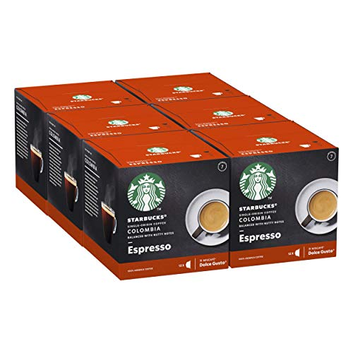 Starbucks Single Origin Colombia De Nescafe Dolce Gusto Cápsulas De Café De Tostado Medio 6 X Caja De 12Unidades