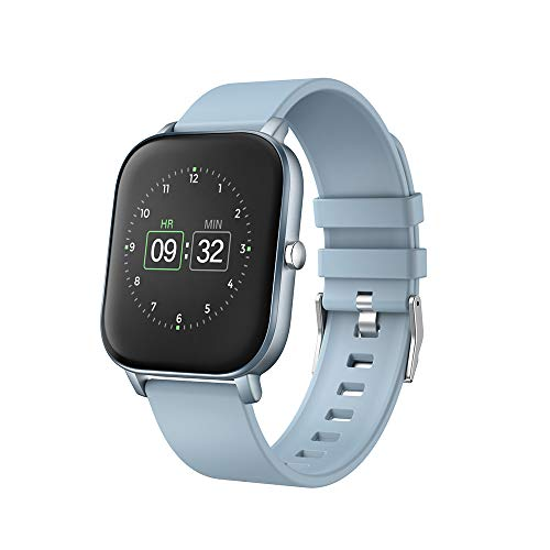 """moreFit Smart Watch, 1.4"""" Fitness Tracker with Sport Model Heart Rate Calorie Sleep Monitor Music Control IP68 Resistant for Women and Men (Blue)"""
