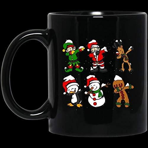 N\A La Mejor Taza de Regalo Dabbing Santa Elf Friends Camiseta Navidad niños Navidad Taza Divertida Regalo