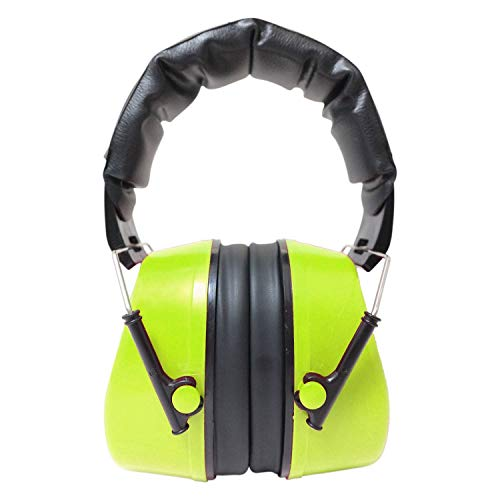Viwanda Basel grüne Kapselgehörschützer Lärmschutz SNR 29dB, NRR 25dB CE EN 352-1 - verstellbar komfortabel Gehoerschutz für Erwachsene Kinder