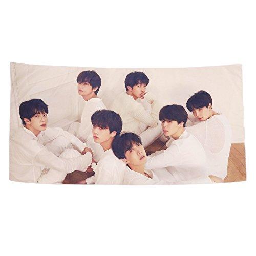 Yovvin Strandtcher Beach Towel, Kpop Bangtan Jungen Love Yourself Tear Strandtuch Tapestry Yoga Picknick Decke Dekorative Wandbehang Bed Sheet Tischdecke (C)