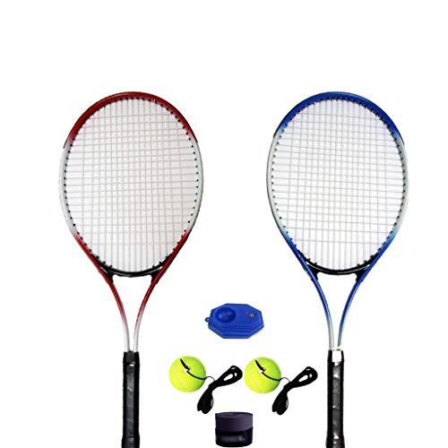 Raqueta de Tenis para Deportes para Adultos, Entrenamiento para Estudiantes universitarios, Raqueta de aleación de Aluminio de 68 cm