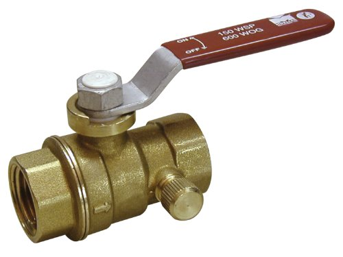 Mueller Industries 107-755NL B&K ProLine 7700 Full Port Ball Valve, 1 in, FPT, 600 Wog, 150 Psi WSP, Forged, Chrome Plated, 1-Inch, Brass