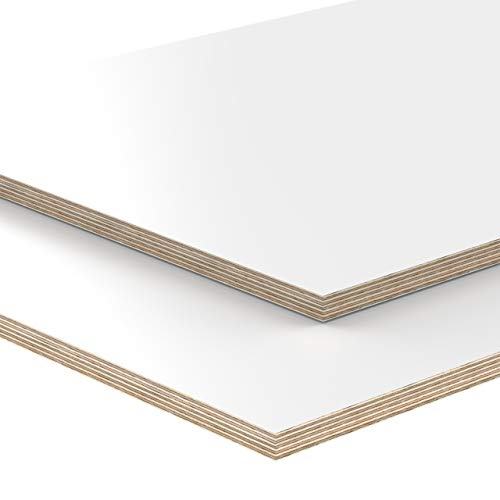18mm Multiplex Zuschnitt weiß melaminbeschichtet Länge bis 200cm Multiplexplatten Zuschnitte Auswahl: 50x40 cm
