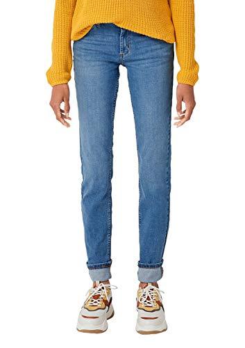 Q/S designed by - s.Oliver Damen 41.909.71.3209 Flared Jeans, Blau (Blue Denim, Heavy Stripes 55z6), 44W / 36L