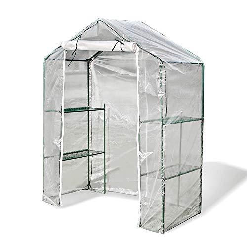 Serres Serre À 3 Niveaux, Grand Walk-in en Plastique Transparent À Effet De Serre en Polycarbonate, Serre Chaude Verte avec Portes À Enroulement pour La Terrasse du Jardin (Size : 140x70x180cm)