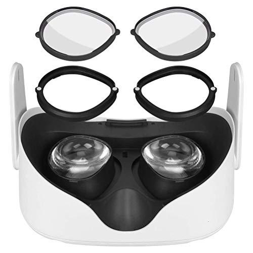 CeFoney Lente de cristal antiarañazos, anillo antiarañazos, montura de lente de miopía de inserción compatible con Oculus Quest 2